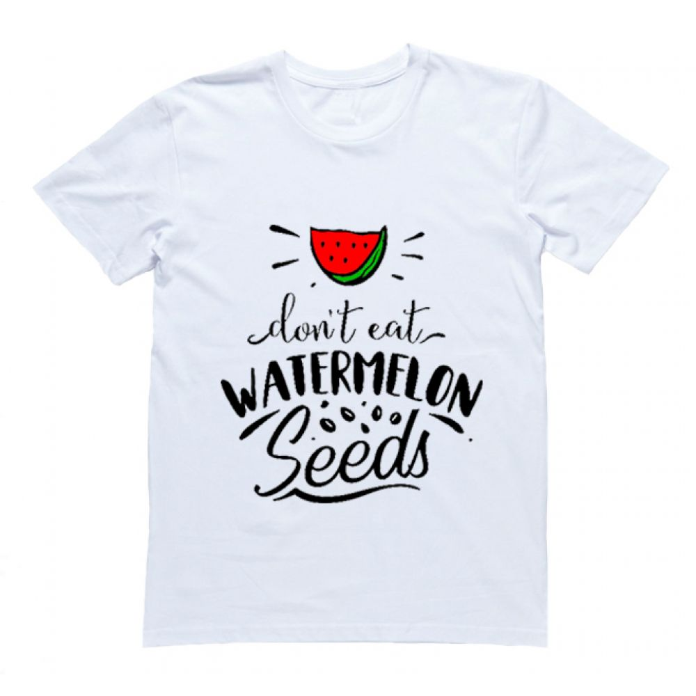 "Футболка с надписью ""Don't eat watermelon seeds"""
