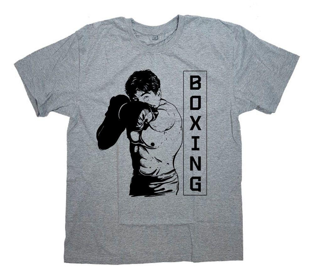 """Футболка с принтом и надписью """"Boxing man"""""""