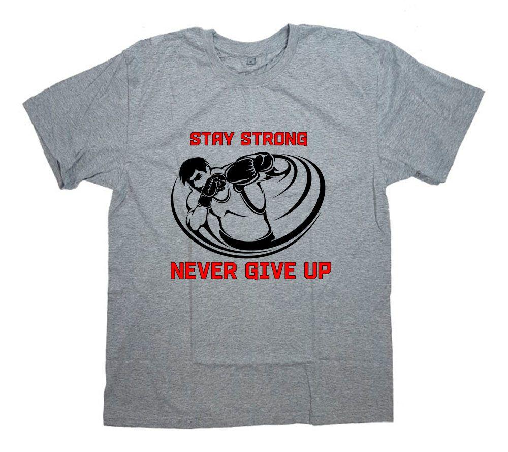 "Футболка с принтом и надписью ""Stay strong. Never give up"""