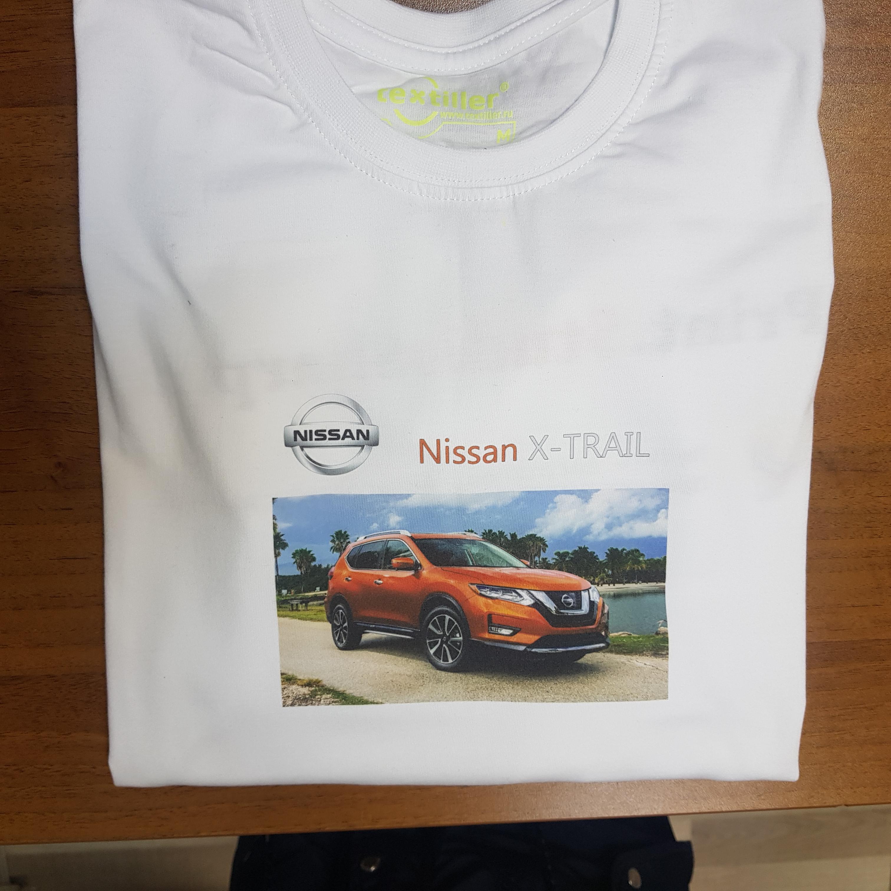 Печать логотипа на футболках в Москве