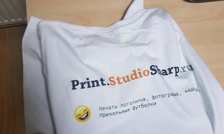 печать логотипа на футболках в Москве за 790 рублей Print.StudioSharp.ru