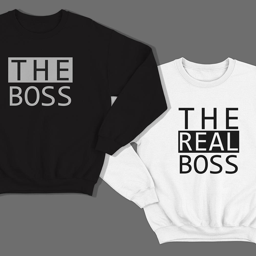 Парные свитшоты для влюбленных «The boss»/»The real boss»