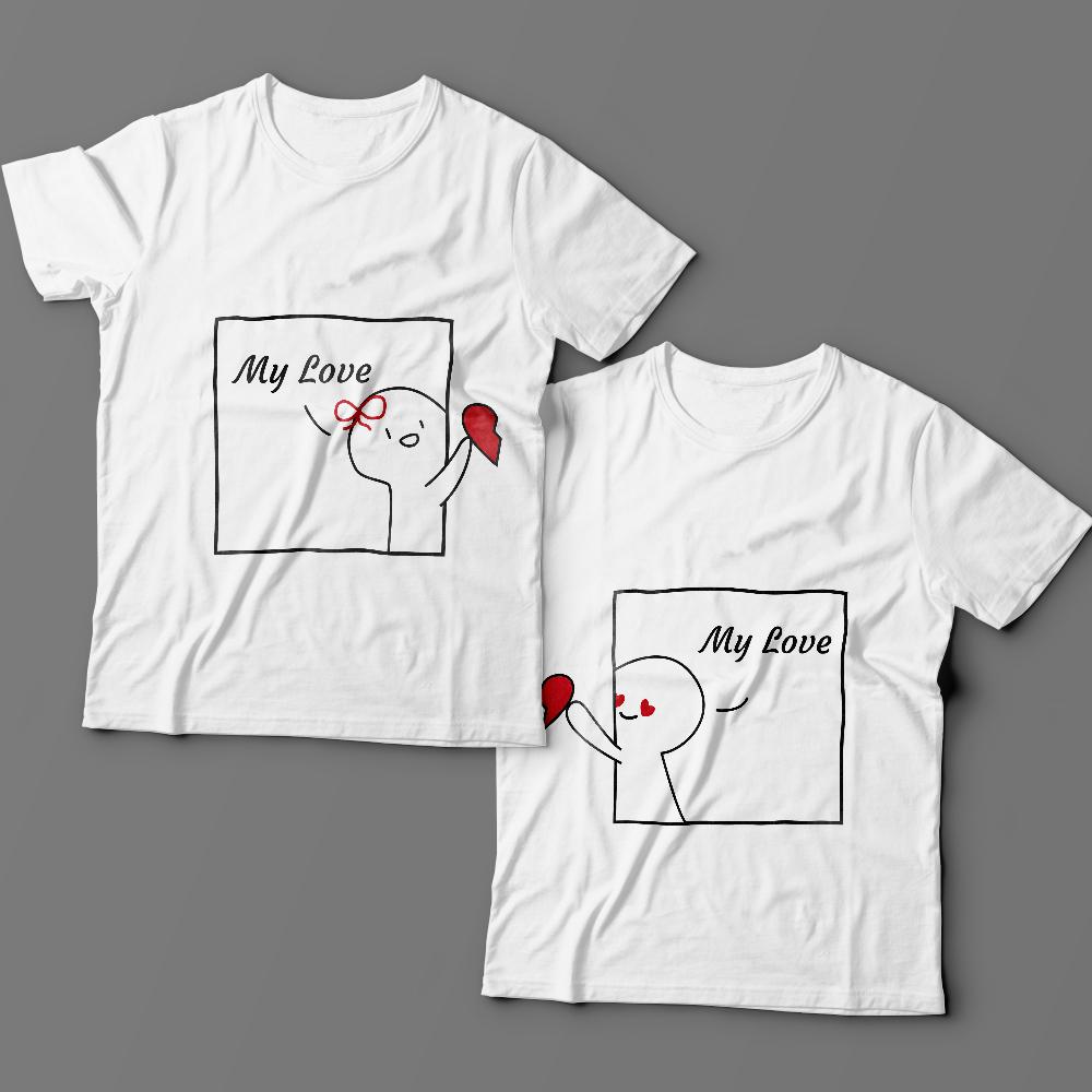 Парные футболки для влюбленных «My love»