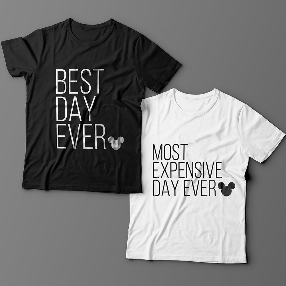 Парные футболки для влюбленных «Best day ever»/»Most expensive day ever»