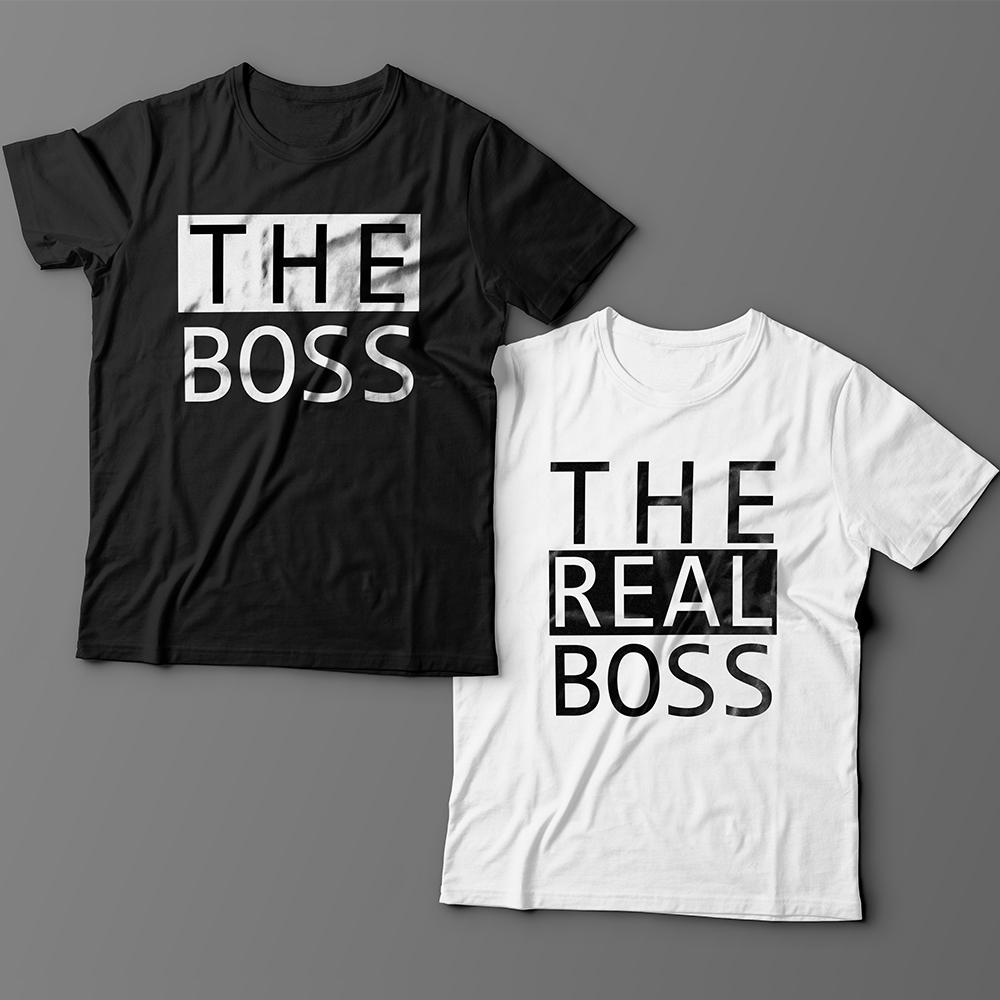 Парные футболки для влюбленных «The boss»/»The real boss»