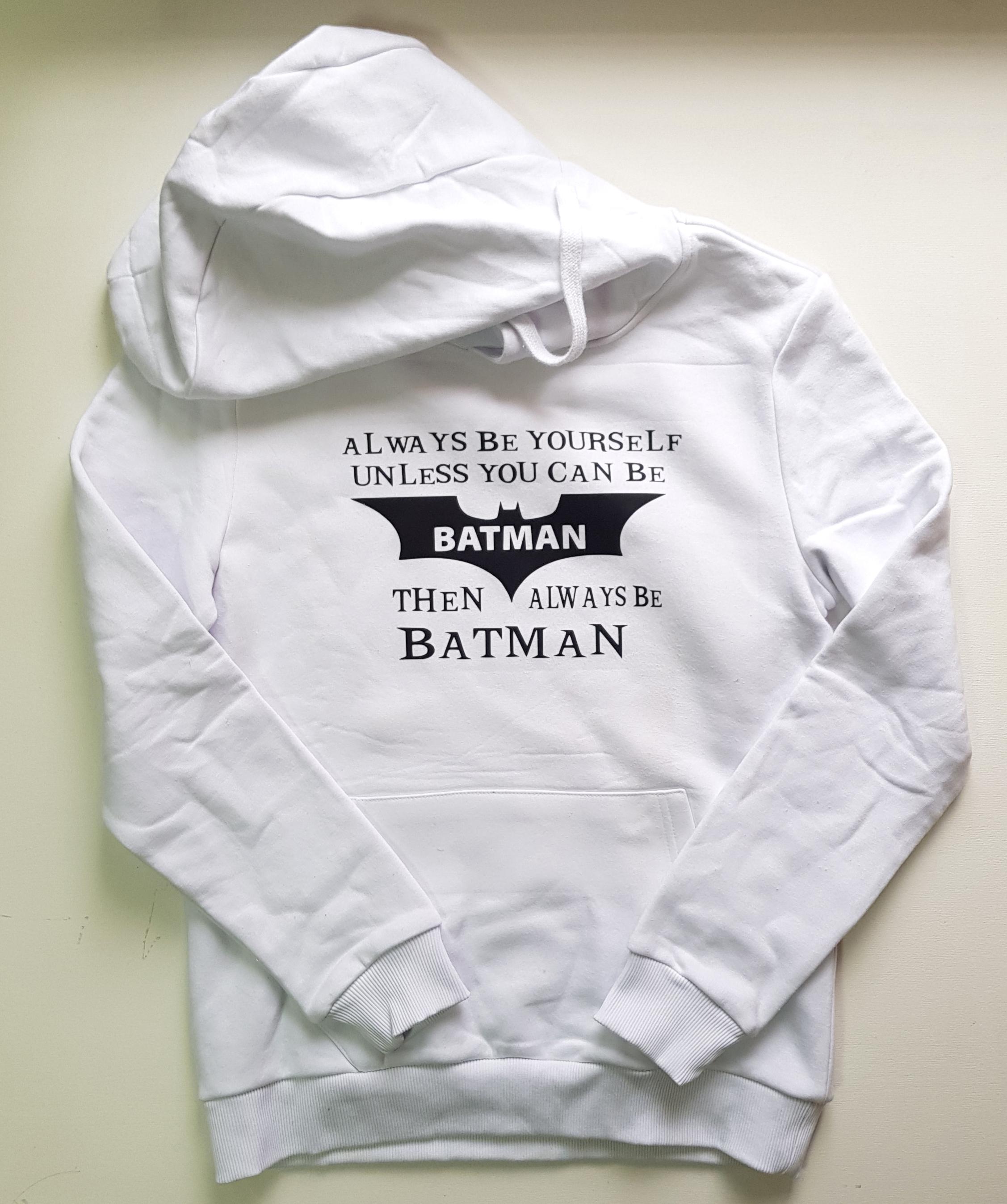 """Толстовка белая """"Batman"""""""