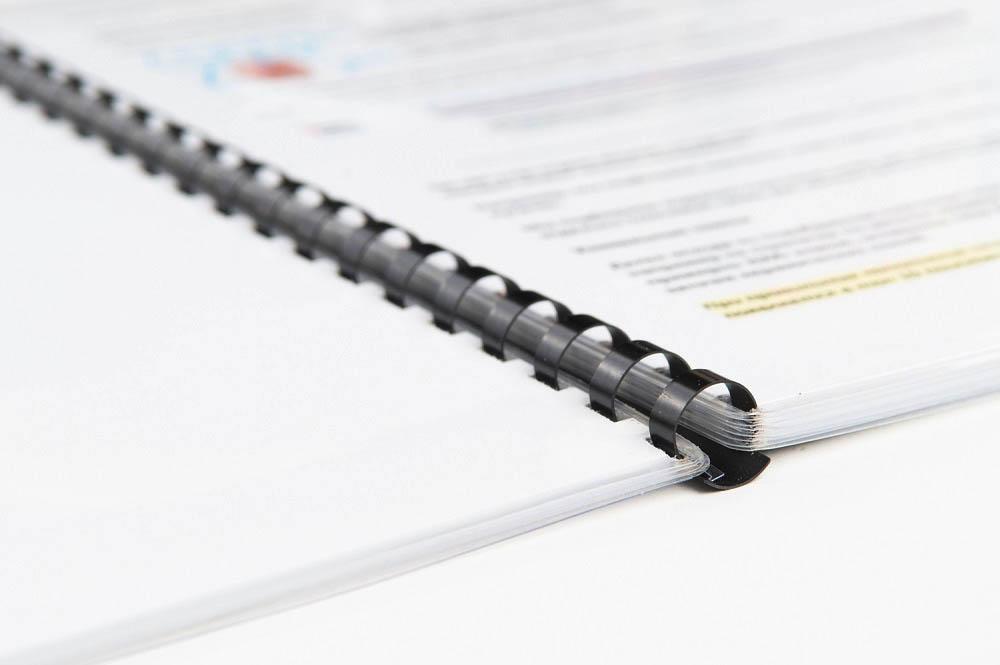 брошюровка документов на пластиковую пружину