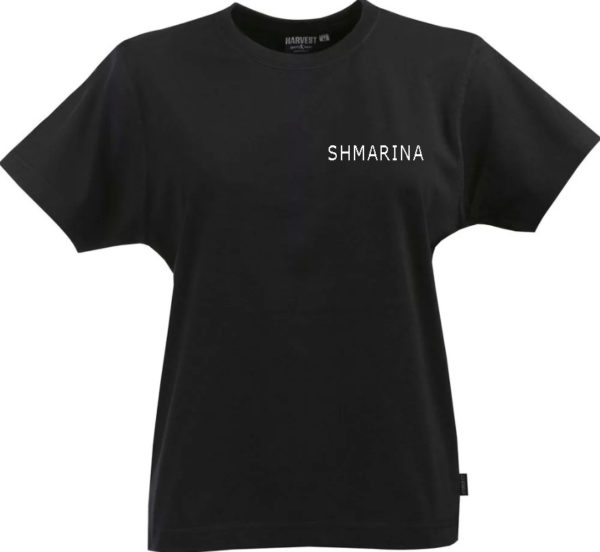"""Черная женская футболка """"shmarina"""""""