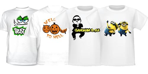 Печать на футболках срочно от 790 руб. | Print.StudioSharp.ru