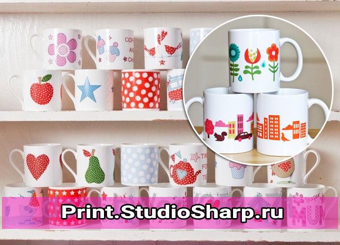 Печать на кружках на заказ недорого Print.StudioSharp.ru