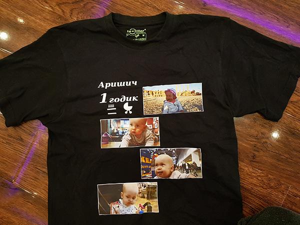 Печать фото на черной футболки Print.StudioSharp.ru